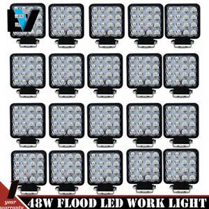 27W Round Flood LED Off road Work Light Lamp Car Boat Truck UTE US Stock