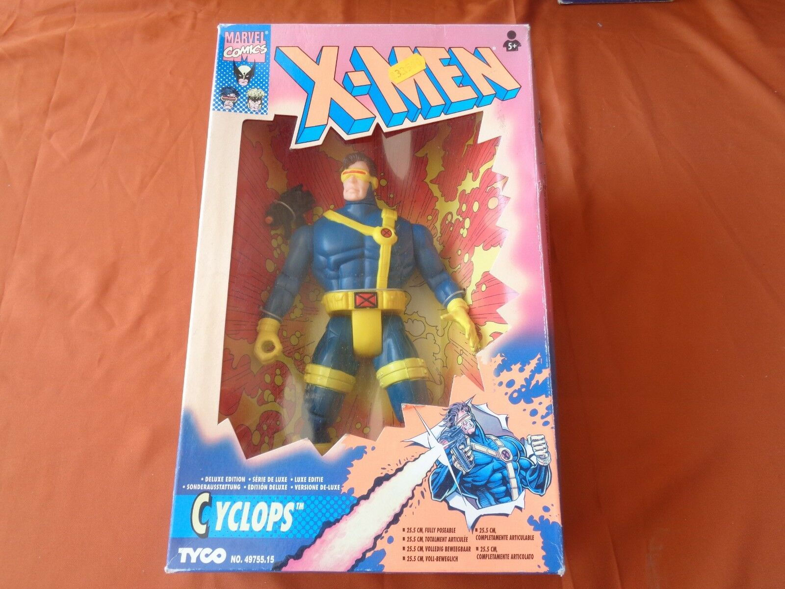 X-MAN TYCO VERSIONE DE LUXE CYCLOPS COMPLETAUomoTE ARTICOLATO 25,5 CM VINTAGE