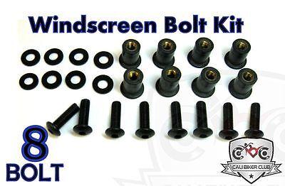 8Pc Pink Billet Aluminum Motorcycle Spiked Bolt Screw For Windscreen for Honda CBR600RR