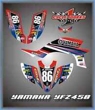 YAMAHA 04-09 YFZ 450 ATV CUSTOM GRAPHICS KIT PEGATINAS Yama  Red