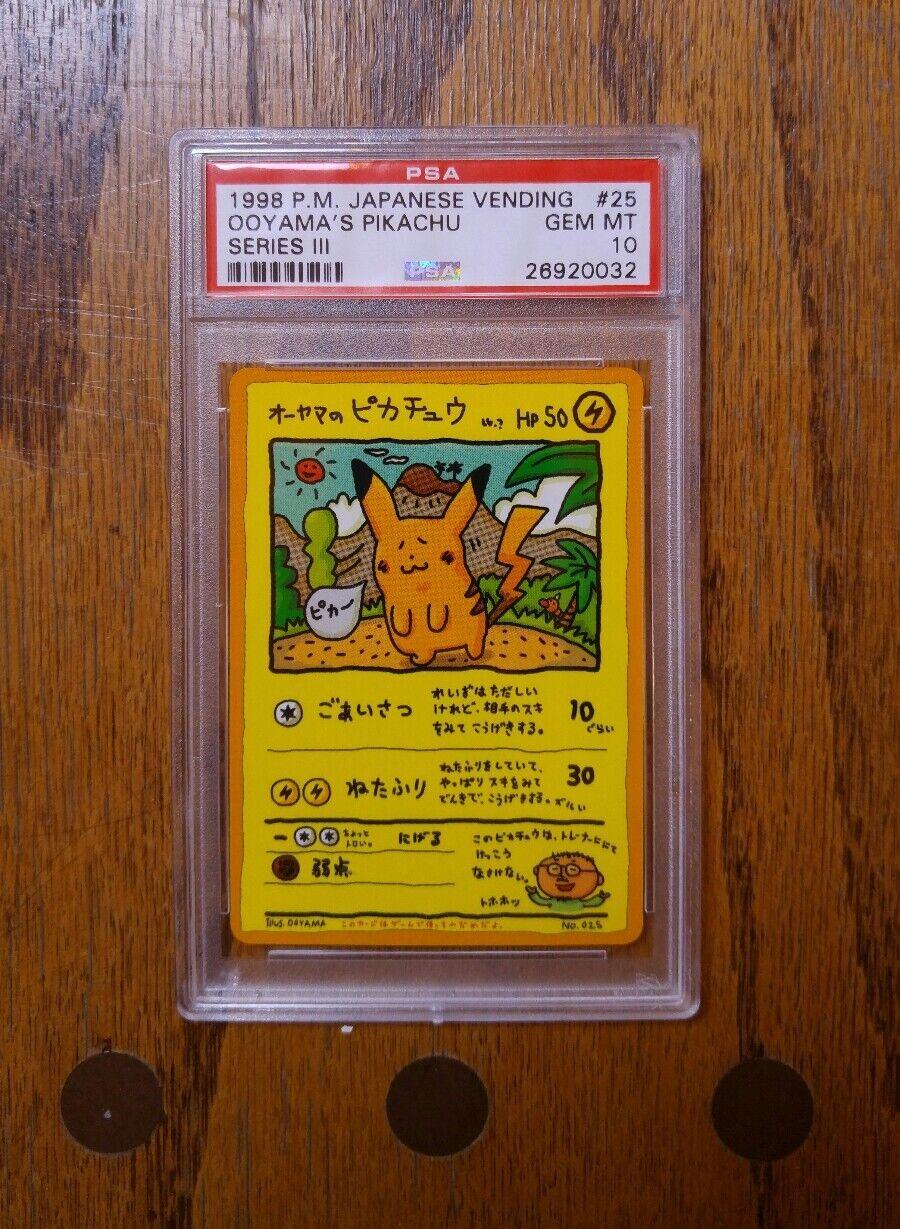 1998 1998 1998 P.M. Japanese Vending Ooyama's Pikachu Series 3 PSA 10 bde47d
