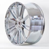 4 Gwg Wheels 22 Inch Chrome Flow Rims Fits 5x114.3 Jeep Wrangler 2000 - 2006