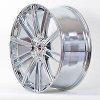4 Gwg Wheels 22 Inch Chrome Flow Rims Fits 5x115 Chrysler 300 2005 - 2016
