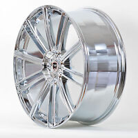 4 Gwg Wheels 22 Inch Chrome Flow Rims Fits 5x114.3 Ford Explorer 2002 - 2010