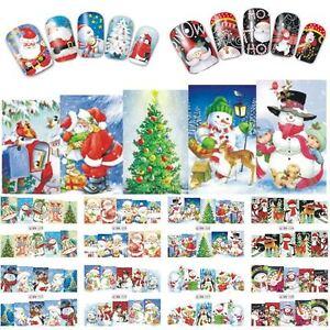 CHRISTMAS-NATALE-NOEL-WEHINACHTEN-NAVIDAD-adesivi-unghie-nail-art-WATER-decals