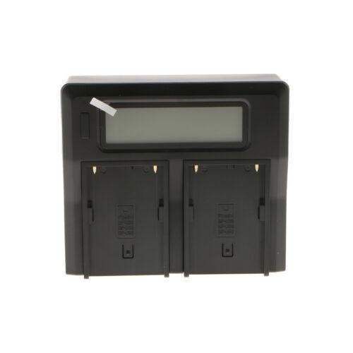 Caricabatterie Dual Display LCD nero intelligente per batteria Sony BP-U60 //