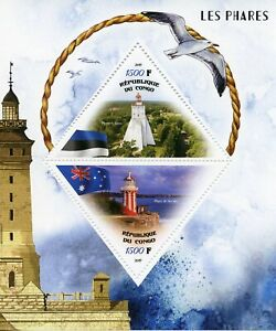 Lighthouses-Stamps-2019-MNH-Kopu-Hornby-Lighthouse-Architecture-2v-M-S