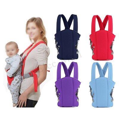 Newborn Infant Baby Carrier Sling Wrap Backpack Front Chest Ergonomic 4 Position