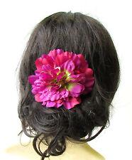 Large Fuchsia Purple Peony Flower Hair Comb Bridesmaid Big Rockabilly 1950s 1735