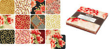 """Kaufman Imperial 13 Black ASIAN QUILT FABRIC CHARM PACK: 42 - 5"""" SQUARES"""
