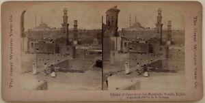 Egitto Citadelle Del Cairo Foto Young Stereo Vintage Albumina 1900