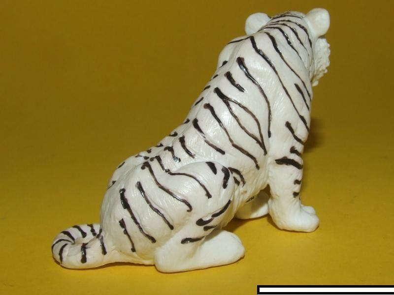 12) Schleich schleichtier-tiger sentado blanco 14097 14097 14097 rareza a0c3a1