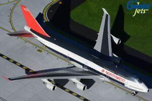 GEMINI200 (G2NWA909) NORTHWEST AIRLINES 747-400 1:200 SCALE DIECAST METAL MODEL