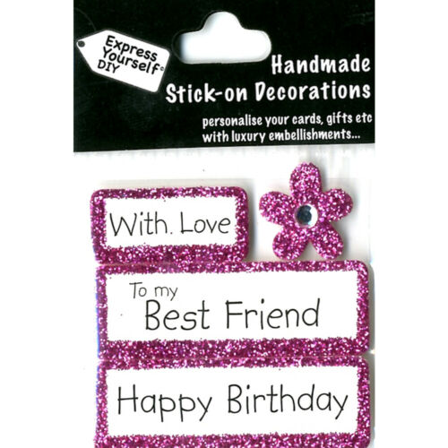 DIY Celebrate-With Love-To my Best Friend Happy Birthday-Greeting Card Topper