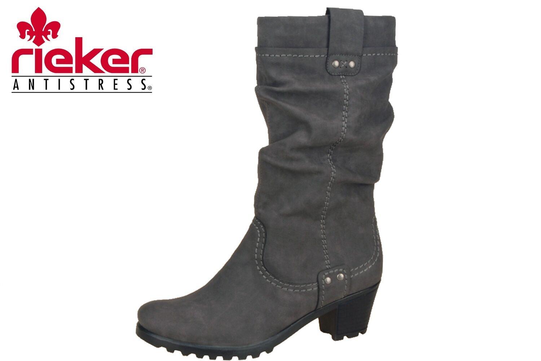 Rieker Damen Stiefel Grau Winter Schuhe Lammwollfutter NEU Y8080-42