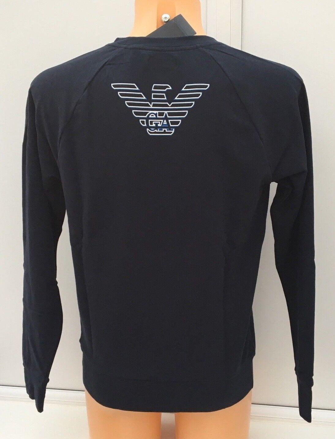 EMPORIO ARMANI EA7 Sweater in Marine Blau with EA7 Blau Logo Größes S-XL BNWT