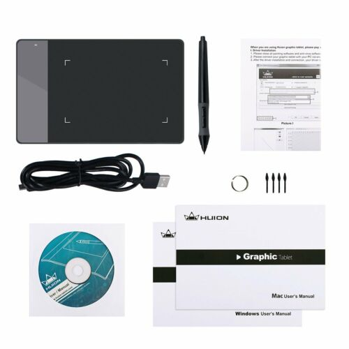 10 nibs US Huion 420 4 x 2.23 Inches OSU Tablet Graphics Drawing Pen Tablet
