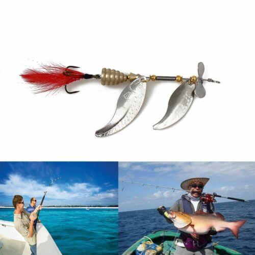 Noise Paillette Spoon Spinner Fishing Lures Feather Treble Hook Crank Bait