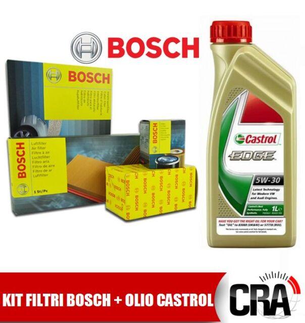 KIT DE MANTENIMIENTO ACEITE CASTROL BORDE 5W30 6 LT + 4 FILTROS BMW BOSCH 320D