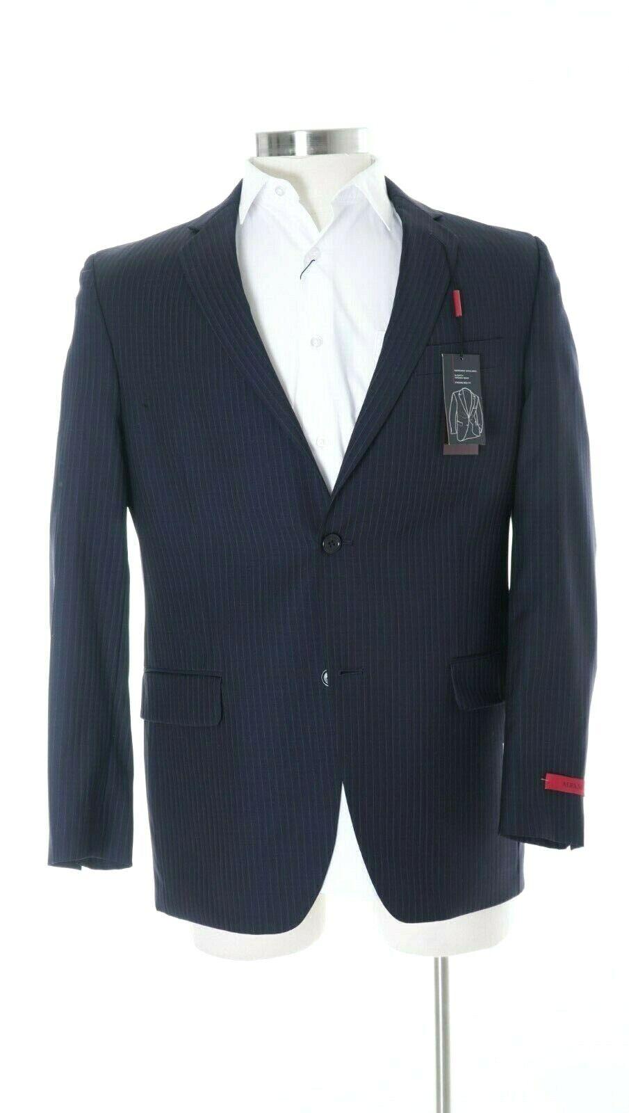 Alfani Slim Fit Navy bluee Striped Wool Blend Two Button Sportcoat Blazer 40R