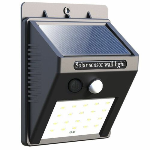 40 LED Solar Powered PIR Motion Sensor Light Outdoor Garden Security Lights UK
