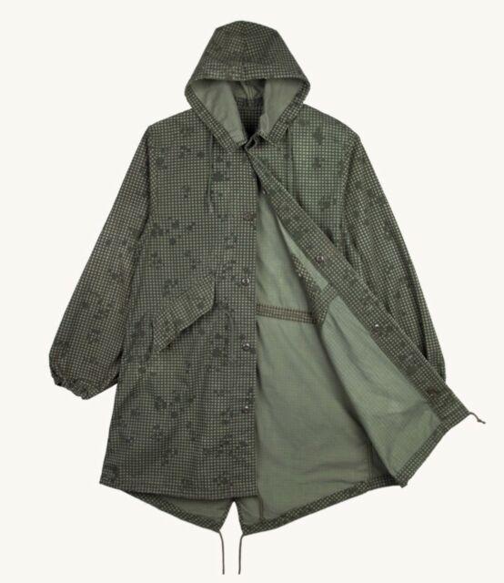 Desert Gulf War Night Camo Fishtail Hooded Parka MEDIUM Jacket Military Vintage