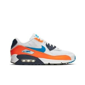 Details about Nike Air Max 90 Essential (WhitePhoto Blue Total Orange) Men Shoes AJ1285 104