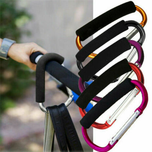 Universal Large Buggy Mummy Clip Pram Pushchair Shopping Bag Hook Carabiner