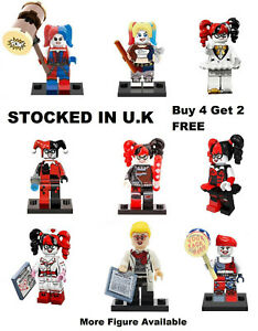 Harley Quinn Birds Of Prey Minifigure Suicide Squad Dc Lego Custom Mini Figure Ebay