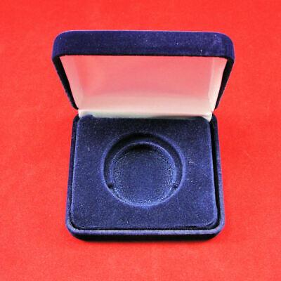Air-Tite Blue Velvet Steel Box For Z Size Coin Capsule Display Gift Case New