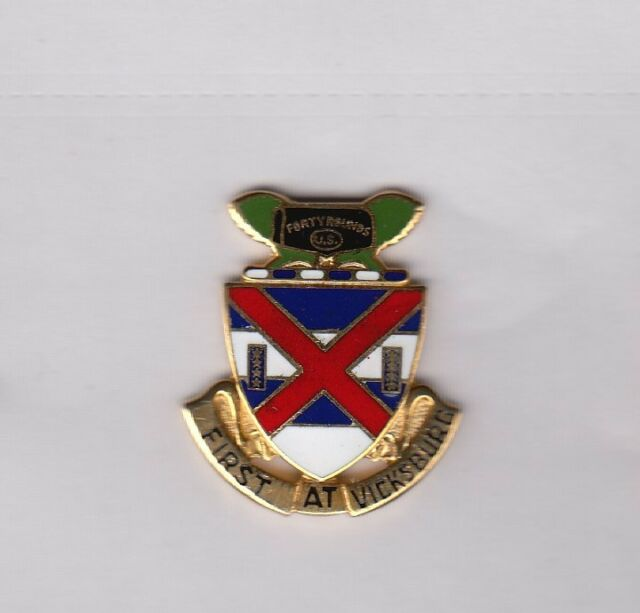US Army 7th VII CORPS COMMAND crest DUI badge cb clutchback G-23