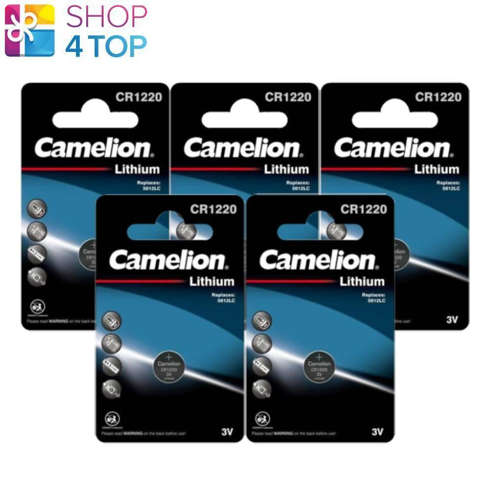 5 Camelion CR1220 Batteries Lithium 3V Coin Cell DL1220 ECR1220 1BL Exp 2031 New