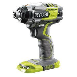 Ryobi 18v 3 Speed Brushless Motor Impact Drill Driver Max Torque 270 Skin Only Ebay