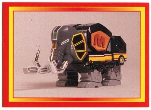 The Mastodon Dinozord #44 Power Rangers 1995 Merlin Trade Card C1380