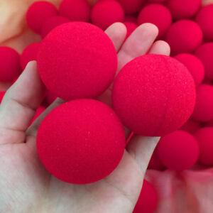 8Pcs 4.5cm Super Soft Sponge Red Balls Close-Up Magic Street Party Trick Prop