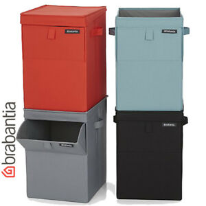35 Litre Brabantia Stackable Laundry Bin Basket Foldable Storage Hamper Mint