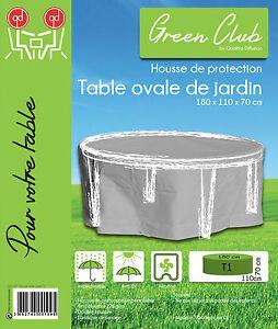 Détails sur Housse de protection table ovale de jardin Haute qualité  polyester 180x110x70cm