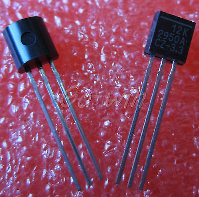 10PCS LP2950-3.3 IC REG LDO 3.3V 0.1A TO92 NEW