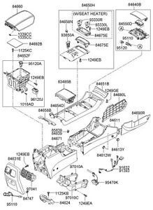 NEW-HYUNDAI-GENUINE-OEM-GEAR-SELECTOR-COVER-FOR-CENTER-CONSOLE-846503L040K7