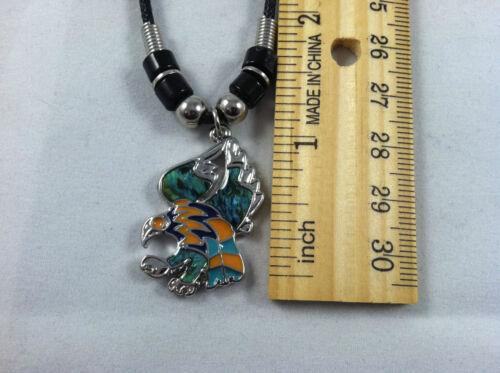 Beautiful Abalone Paua Shell Eagle in Flight Pendant Tribal design Necklace