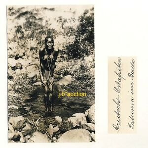 DOA * NACKTE AFRIKANERIN * Vintage 20s Ethnic Nude Photo