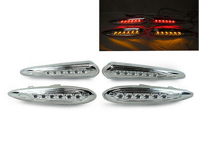 DEPO JDM Red LED Clear Rear Bumper Side Marker Light fit For 00-03 Nissan Maxima