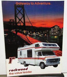 1984 Rockwood Motor Home Rv Dealer Sales Brochure Camper Travel Features Ebay