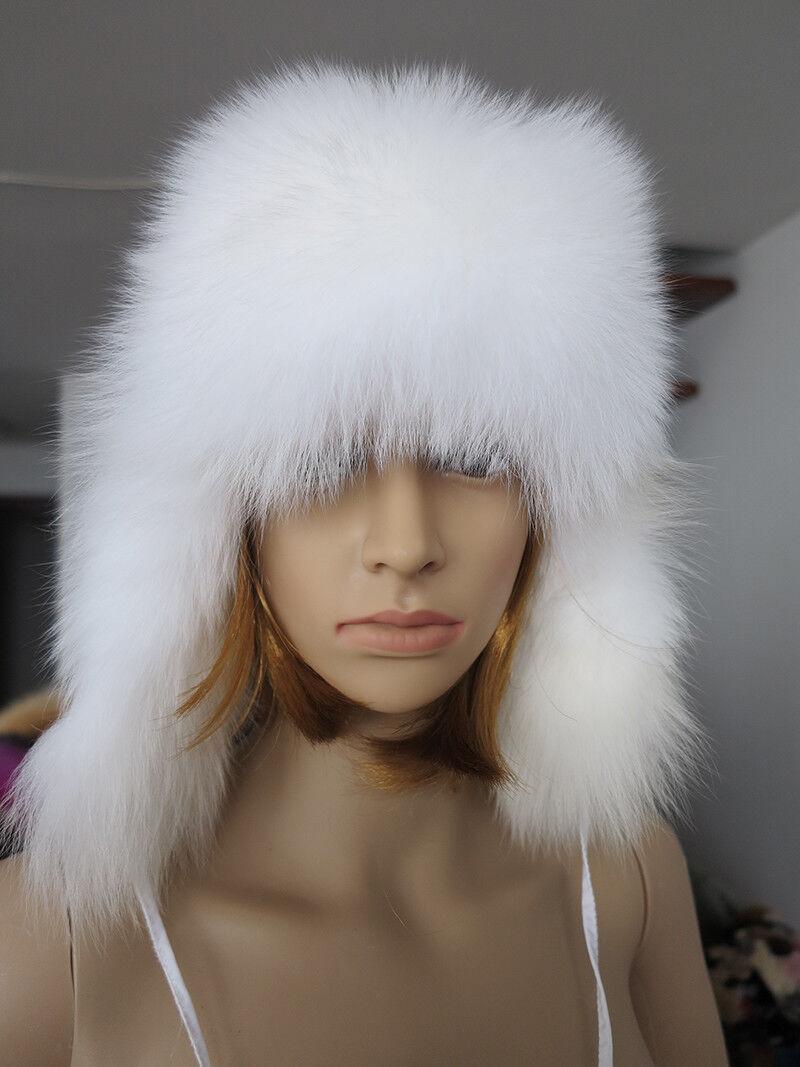 New style 100% Genuine FOX fur cap / fur HAT/ headbands