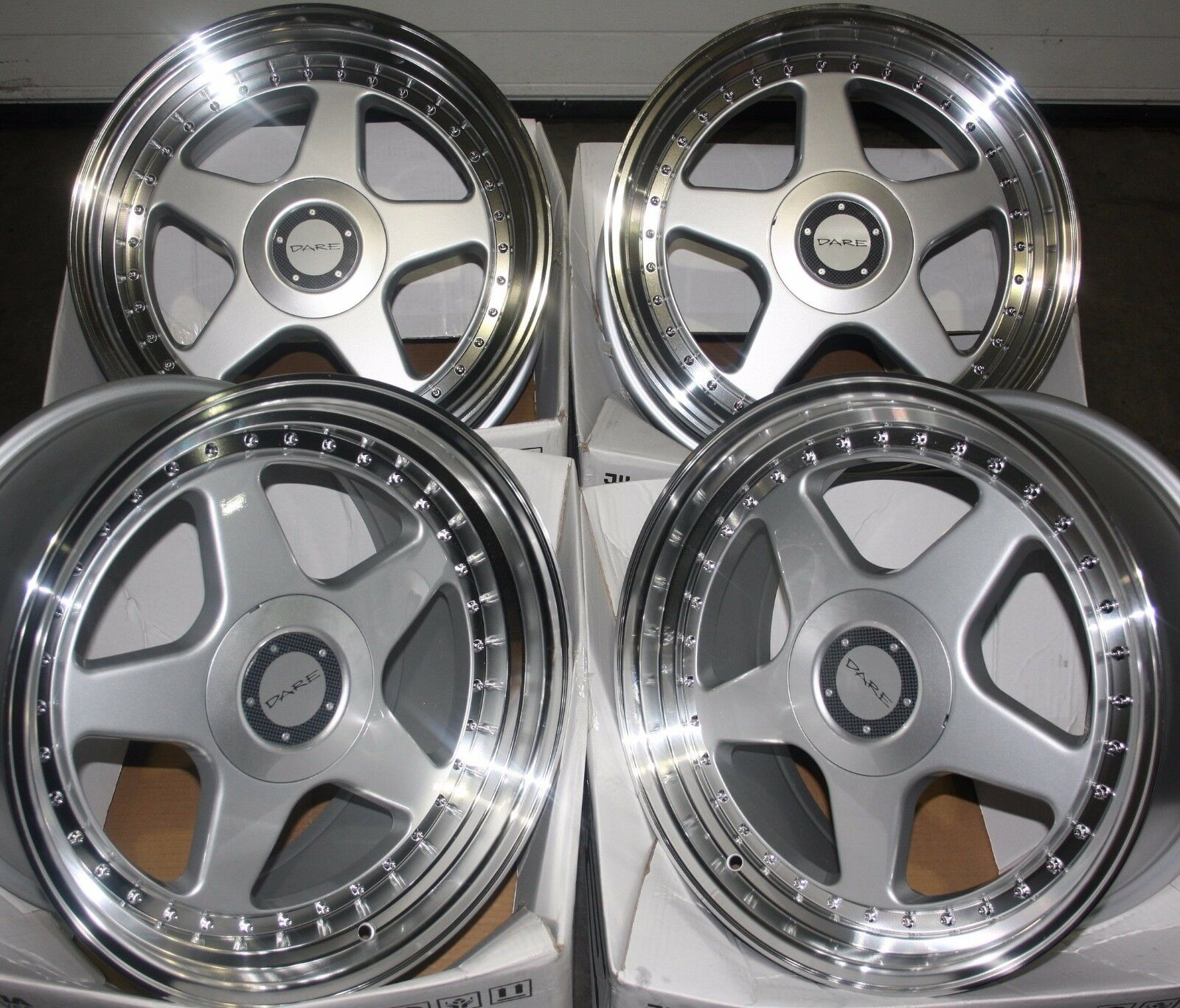 17   silver F5 Alufelgen Passend für Mazda Mitsubishi Nissan Citroen Peugeot