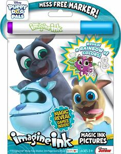 new 24pg disney puppy dog pals imagine ink magic pictures activity