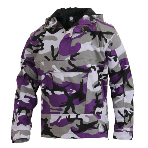 Anorak Hooded Camo Parka Quarter Zip Pull Over Jacket Rothco 3847 3597 3647