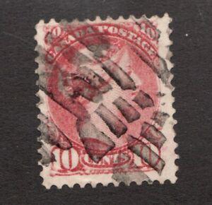 #45. - Canada - 1897 -  10 Cent - Used  - F - superfleas
