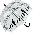 Esschert Design Umbrella Print Birds on a Wire Transparent Tp166 Windproof