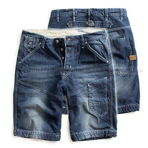 Kendte G-STAR RAW TREAL DENIM JEANS LOOSE SHORTS PANTS AGED BLUE W30 RRP IM-52